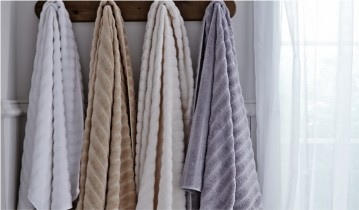 Bianca Plain Dye Ribbed Towels