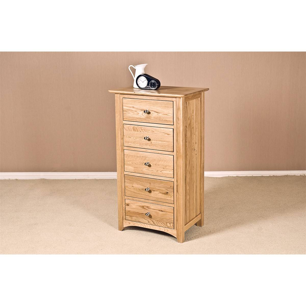 Our furniture carvalho 5 drawer wellington chest bedroom for Bedroom furniture wellington
