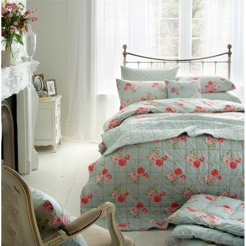 cath kidston antique rose bouquet duvet cover duck egg. Black Bedroom Furniture Sets. Home Design Ideas