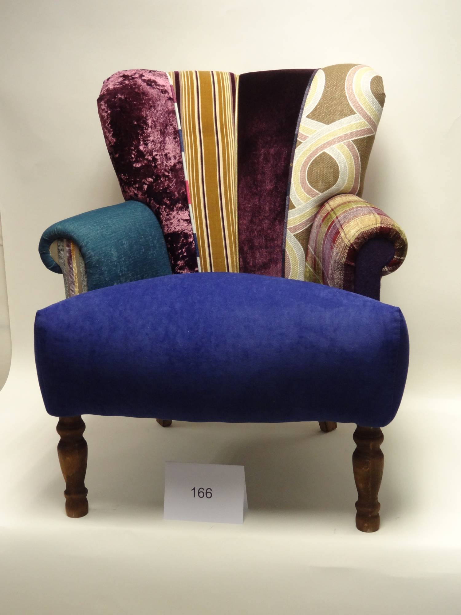quirky harlequin chair 166   bedroom furniture