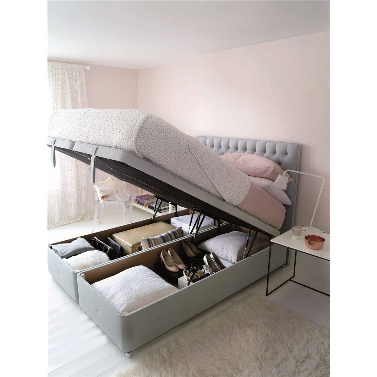 Hypnos super storage ottoman divan base ottoman beds for Divan bed base with storage
