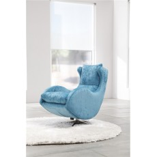 Fama Lenny Swivel Rocker Chair in Ciervo Leather
