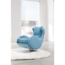 Fama Lenny Swivel Rocker Chair in Dalmata Leather