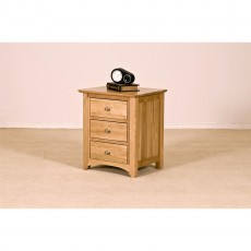 Our Furniture Carvalho 3 DRAWER BEDSIDE