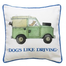 Emma Bridgewater Dogs Like Driving Cushion