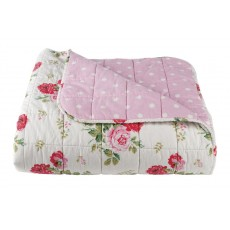 Cath Kidston Antique Rose Bouquet Bedspread White