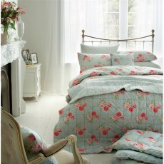 Cath Kidston Antique Rose Bouquet Duvet Cover Duck Egg