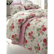 Cath Kidston Antique Rose Bouquet Duvet Cover White