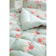 Cath Kidston Antique Rose Bouquet Eiderdown Duck Egg