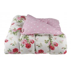 Cath Kidston Antique Rose Bouquet Eiderdown White