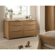 Winsor Furniture Ltd. Tempo Bedroom Collection Wide 6 Drawer Dressing Chest