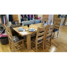 Camelot Extending Dining Table and 4 Chairs Clearance