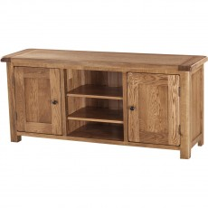 Our Furniture Normandy LARGE TV UNIT WITH WOODEN DOORS