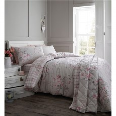 Catherine Lansfield Canterbury Brushed Check Grey Duvet Set