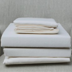 Design Port Brushed Cotton Cream Fitted Sheet