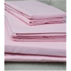 Design Port Brushed Cotton Pink Flat Sheet