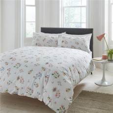 Cath Kidston Scattered Pressed Flowers Housewife Pillowcase