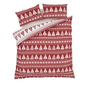 Catherine Lansfield Nordic Trees Red Throw