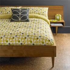 Orla Kiely Acorn Cup Olive Housewife Pillowcase Pair