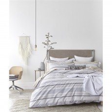Bianca Stripe Cotton Weave Duvet Set
