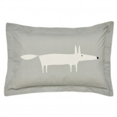 Scion Mr Fox Oxford Pillow Case Silver
