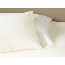 Studio Collection Cotton Rich 60:40 White Flat Sheet
