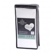 The Fine Bedding Company Deep Fill Cotton Pillow Protector