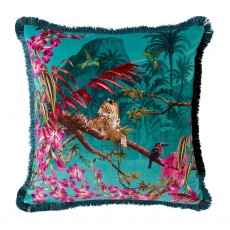 Ted Baker Hibiscus Jade Square Polyester Filled Cushion