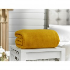 Deyongs Snuggle Touch XL Mustard Throw