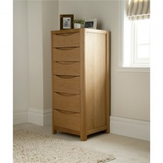 Winsor Furniture Ltd. Tempo Bedroom Collection Tall 6 Drawer Chest