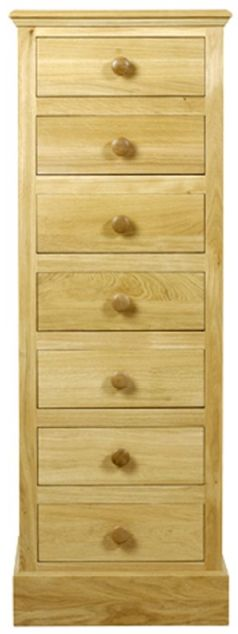 C.F.S Hunston Collection Seven Drawer Wellington Chest