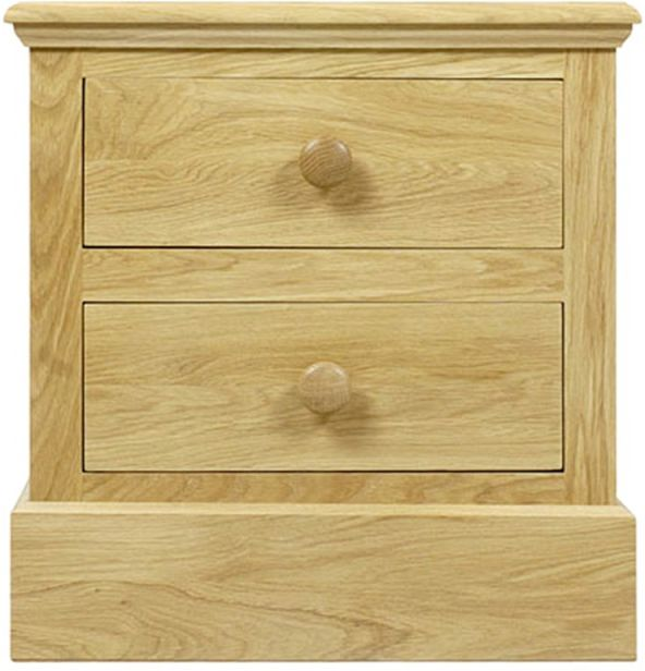 C.F.S Hunston Collection Two Drawer Bedside Chest