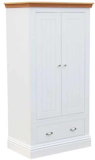 TCBC New England Bedroom Small Wardrobe with Drawer