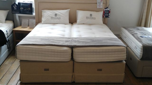 "Royal Splendour 6'0"" Super King Zip & Link Pocket Sprung Divan Set with Skirt & Isobella Headboard"