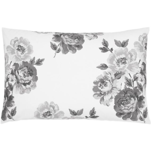 Cath Kidston Peony Blossom Grey Housewife Pillowcase
