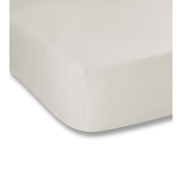 Bianca Plain Dyes Cream Fitted Sheet