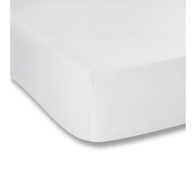 Bianca Plain Dyes White Fitted Sheet