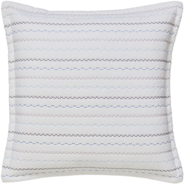 Bianca Folk Cotton Blue Cushion Cover