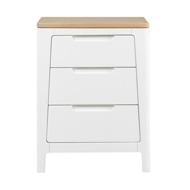 Our Furniture Ella Painted 3 Drawer Nightstand