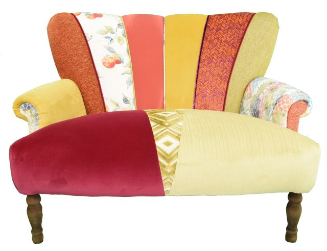 Quirky Harlequin Love Seat 10