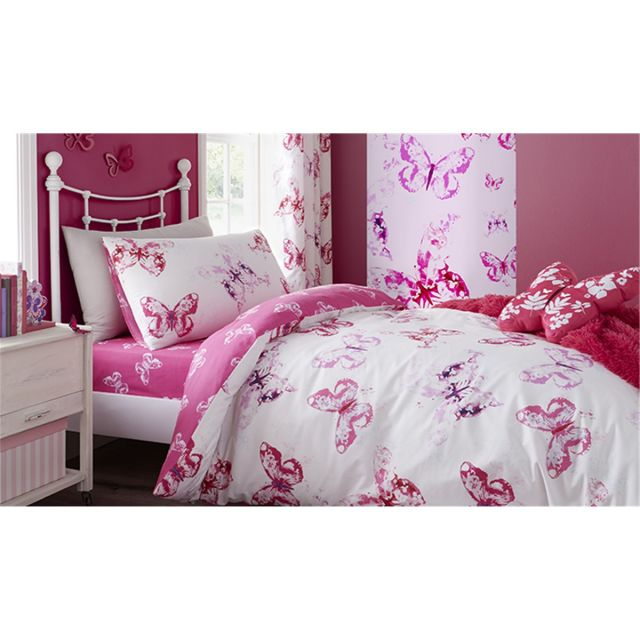 Catherine Lansfield Butterfly Duvet Set