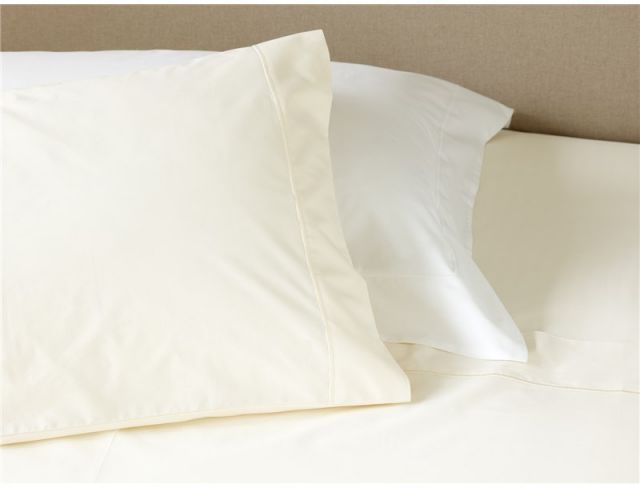 Studio Collection Cotton Rich 60:40 Cream Pillowcase Pair Housewife
