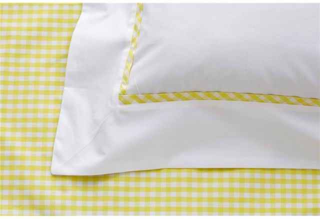 The Studio Collection Gingham Duvet Cover Yellow Duvet