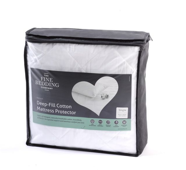 The Fine Bedding Company Deep Fill Cotton Mattress Protector