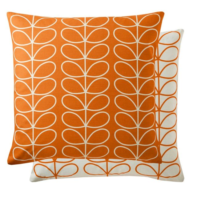 Orla Kiely Small Linear Stem Persimmon Feather Filled Cushion