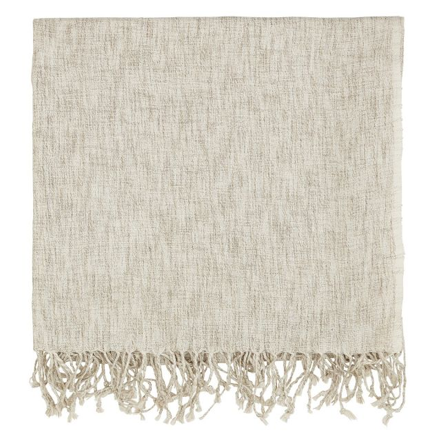 Murmur Grain Linen Throw