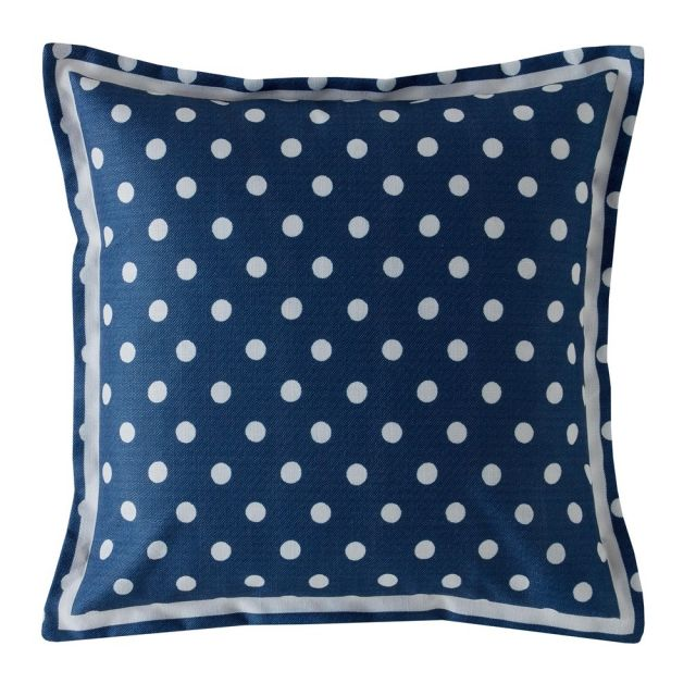 Cath Kidston Button Spot Navy Cushion