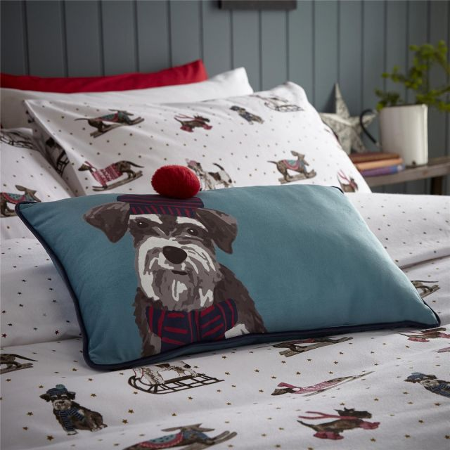 Fat Face Sledging Dogs Cushion