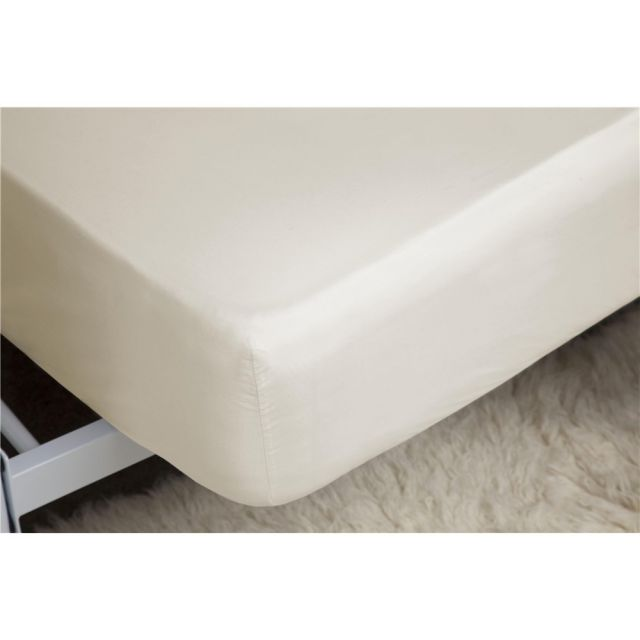 Belledorm 200TC Egyptian Blend Cotton Extra Deep Ivory Fitted Sheet 38cm Box