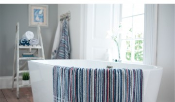 Lobster Creek Coastal Stripe Towel Collection
